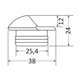 Πλαφονιέρα Μισός Φωτισμός Inox 38mm Λευκό Χρώμα Seaworld IP67 12 24V