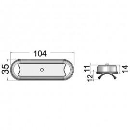 Πλαφονιέρα Με Διακόπτη Inox Led Osculati IP67 10 30V