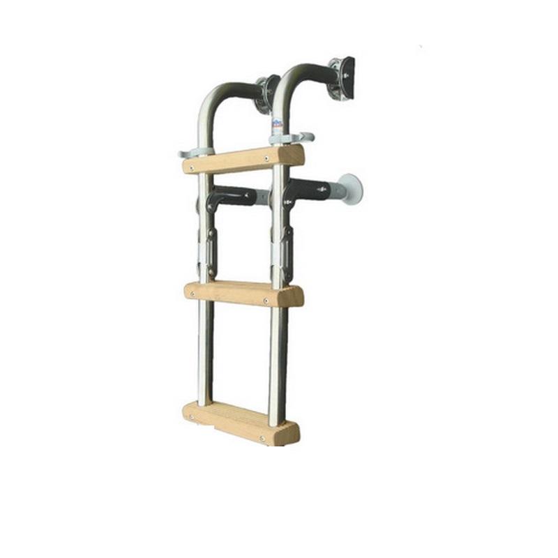 Σκάλα Inox 3 Σκαλιά Ξύλινα W35 x L56cm