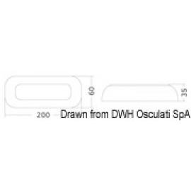 Πλαφονιέρα Led Αδιάβροχη 200x60mm 10-30V