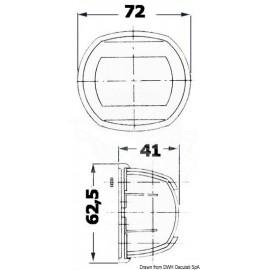 Φανός Κορώνης Οβάλ Για Σκάφη Έως 12m - Osculati
